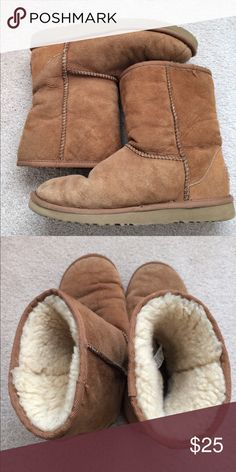 Ugg Chestnut size 6 Used UGG Chestnut size 6. Still very comfortable. Have used these for awhile. Can bring it to the dry cleaner and they'll make it as new ! UGG Shoes Winter & Rain Boots