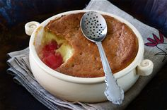 Rhubarb and Custard Pie Pudding Recipe by Madalene Bonvini-Hamel; Chef, Photographer and Founder of The British Larder – The British Larder