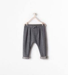 FUR LINED DRAWSTRING TROUSERS