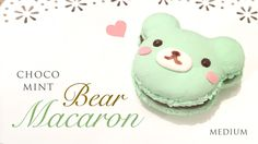 Mint Chocolate Macaron Bear Tutorial - Kawaii Paper Clay Crafts, by Maqaroon via youtube.com. Kawaii!