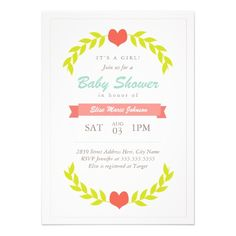 Love Branches Baby Shower Invite