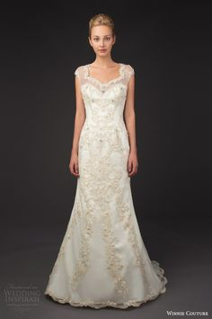 winnie couture bridal 2014 blush label stellina illusion cap sleeve wedding dress