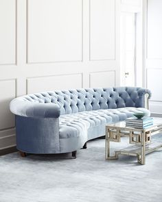 Rebecca+Mirrored+Sofa+by+Haute+House+at+Neiman+Marcus.