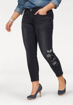 Damen Arizona Skinny-fit-Jeans mit Stickerei und Destroyed Effekten schwarz    04897078993206 - d0ab343f1e