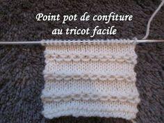 Tricot Merveilleux point tricot / Maravilloso punto tejido a dos agujas - YouTube