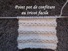 TUTO POINT CHAINETTE OU CONFITURE AU TRICOT stitch knitting PUNTO TEJIDO...