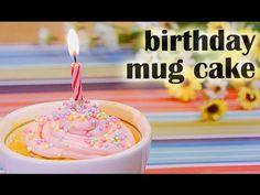 Birthday Mug Cake-(RECIPE) バースデーマグケーキの作り方(レシピ) - YouTube