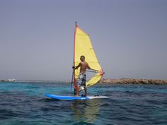 You can also cross from #Formentera to #Espalmador with windsurf! :)