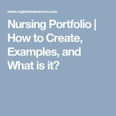 20 Best Nursing Portfolio Images Nursing Portfolio