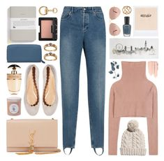 """stirrup jeans"" by jesuisunlapin ❤ liked on Polyvore featuring Yves Saint Laurent, Ray-Ban, School of Life, Balenciaga, Chloé, Prada, Graham & Brown, Maison Margiela, Arteriors and Gucci"