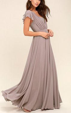 Falling For You Taupe Maxi Dress via @bestmaxidress