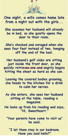 Wife came Home late at Night | | Couple Jokes