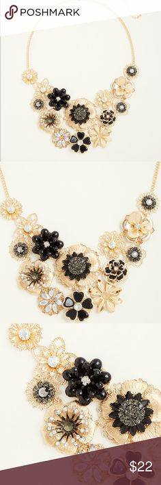 """.🌙. Torrid mixed floral gem statement necklace *Limited time: 30% off 3+ items! Discount automatically taken when you use the """"Buy Now"""" button while purchasing 3 or more items!  Brand new with tags, Torrid mixed floral statement bib necklace. Gorgeous vintage look with stones, filigree, pearly rosettes. Adjustable at 19.5"""" long with a generous 5.75"""" extender.  Check out my other listing to bundle and SAVE! torrid Jewelry Necklaces"""