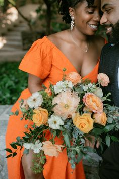 This beautiful orange and pink wedding bouquet was featured in a real wedding from Atlanta on The Knot. In love with orange wedding flowers? Check these out and more from the backyard wedding. Personalize your wedding and put a spin on tradition with The Knot's customizable wedding websites, wedding invitations, registry (and more!). Not sure where to start? Get ideas and advice from our editors on everything from wedding colors and venue types to all things guest.