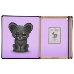 =>quality product          Cute Baby Black Panther Cub on Purple iPad Folio Case           Cute Baby Black Panther Cub on Purple iPad Folio Case in each seller & make purchase online for cheap. Choose the best price and best promotion as you thing Secure Checkout you can trust Buy bestThis Dea...Cleck Hot Deals >>> http://www.zazzle.com/cute_baby_black_panther_cub_on_purple_case-256345649809176384?rf=238627982471231924&zbar=1&tc=terrest