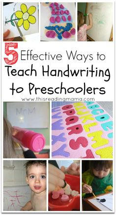 5 Effective Ways to Teach Handwriting to Preschoolers and other activities to promote fine motor skills. Preschool Lessons, Preschool Kindergarten, Preschool Learning, Literacy Activities, Toddler Preschool, Educational Activities, Kids Learning, Teaching Kids, Toddler Learning