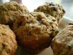 Zucchini Muffins with Cranberries and Chocolate Chips