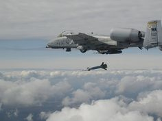 Bomb away.A-10-C Launching Paveway IV Enhanced laser guided bomb