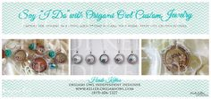 Ask me about my Bridesmaids gifts and bridal party jewelry from Origami Owl custom jewelry.