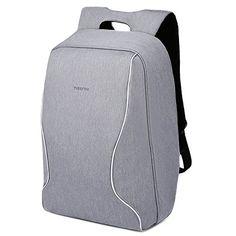 KOPACK Laptop Backpack 15.6 Inch Slim Commuter School Backpack with USB Charging Port Water Resistant Anti Theft Business Rucksack Secure Daypack for Student Women Men Black