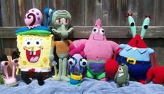 So AWESOME!  :)   7 Spongebob Friends Patterns for 25.00 by mama24boyz on Etsy, $25.00