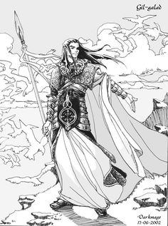 Gil-galad – High King of the Noldor Character Sketches, Character Art, Character Design, Character Ideas, Character Inspiration, Lotr, Das Silmarillion, Gil Galad, Elf Art