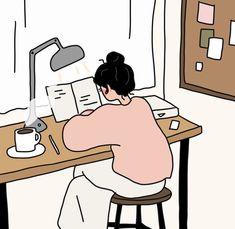 Illustration November 14 2019 at Cute Art Styles, Cartoon Art Styles, Aesthetic Art, Aesthetic Anime, Kalender Design, Art Asiatique, Cartoon Kunst, Dibujos Cute, Korean Art