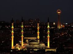 Kocatepe Mosque in Çankaya - Ankara, Turkey