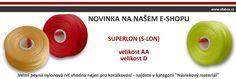 Pro korálkové šikuly a tvořilky máme nově na e-shopu nylonové nitě Superlon (zkráceně S-lon). #koralky http://www.efabos.cz/eshop/nylonove-nite-s-lon