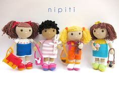 Amigurumi dolls by Nipiti - crochet patterns and finished dolls
