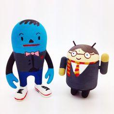 Harry Potter android and Hideki custom designed at our toy workshop ! They both look awesome  #madeatmindzai #paint #art #toy #hideki #android #diy #harrypotter #commedesgarcons #arttoy #designertoy #vinyltoys #design #create #toyworkshop #torontoevents #mindzai #markham #toronto
