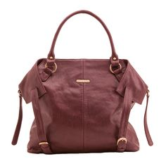 Timi And Leslie Charlie Diaper Bag Tote - Burgundy | Maternity Clothes  Available at Due Maternity www.duematernity.com