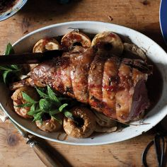 Roast Leg of Lamb with Apples and Fennel Recipe - Saveur.com