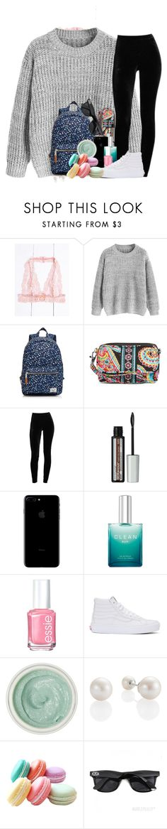 """""""Happy Sunday☀️"""" by southernstruttin ❤ liked on Polyvore featuring Herschel Supply Co., Vera Bradley, Maybelline, Essie, Vans and Tracie Martyn"""