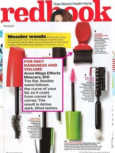 #Avon in the news! #Redbook magazine loves Avon #MegaEffects mascara!! And it's available in a new shade Blackest Black!! Check it out at www.youtavon.com/ncwalker210
