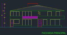 Descargar plano de casa de 2 pisos y 3 dormitorios gratis (DWG)