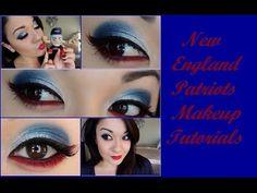 New England Patriots Eye Makeup!