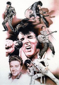 AMERICANA 1 THE KING { Elvis Presley } by ~AbdonJRomero on deviantART