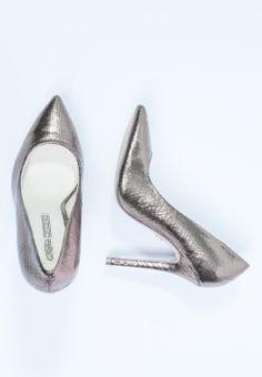 Buffalo Zapatos Altos Silver  CentralMODA.COM