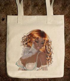 African american girl tote bag