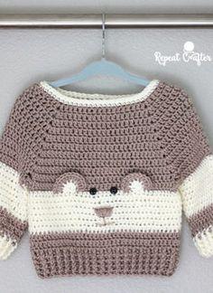 Free crochet pattern for the easy beginner - Page 23 of 49 - hotcrochet . Crochet Jumper Free Pattern, Crochet Toddler Sweater, Baby Boy Knitting Patterns Free, Crochet Baby Clothes Boy, Crochet Baby Sweaters, Newborn Crochet Patterns, Baby Sweater Patterns, Crochet For Boys, Free Crochet