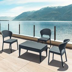 Outdoor Compamia Daytona Resin Faux Wicker Patio Dining Chairs with Optional Cushion - Set of 2 - COMP226