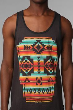 Deter Printed Skull Tank Top  #UrbanOutfitters  i would so wear this even though its a guys tank