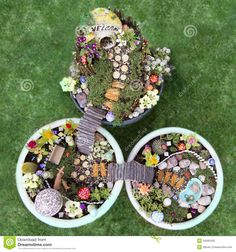 Fairy Garden With Bridge Stock Illustration - Image: 43845951