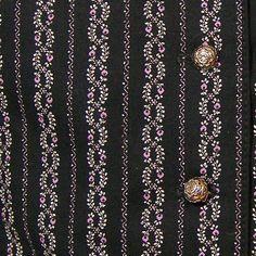Dirndl Spenzer, schwarz weiß lila, Gr. 38/S - Shopname: Gwandkammerl der Vampertingerin