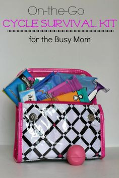 The kids are almost ready for back to school but are you? Make sure you have everything you need to feel like a supermom every day of the month with our On-The-Go #CycleSurvival Kit ideas! #ad