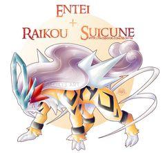 Entei + Raikou + Suicune V.II by Seoxys6 on DeviantArt