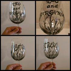 """Still"" anniversary wine glasses"