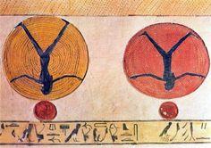 rappresentazione della rinascita del sole dalle pareti della tomba di Ramesse IX (KV6)