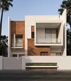 Best Modern House Design, Modern Exterior House Designs, Bungalow House Design, House Front Design, Small House Design, Terrace House Exterior, Facade House, Modern House Facades, Modern Architecture House